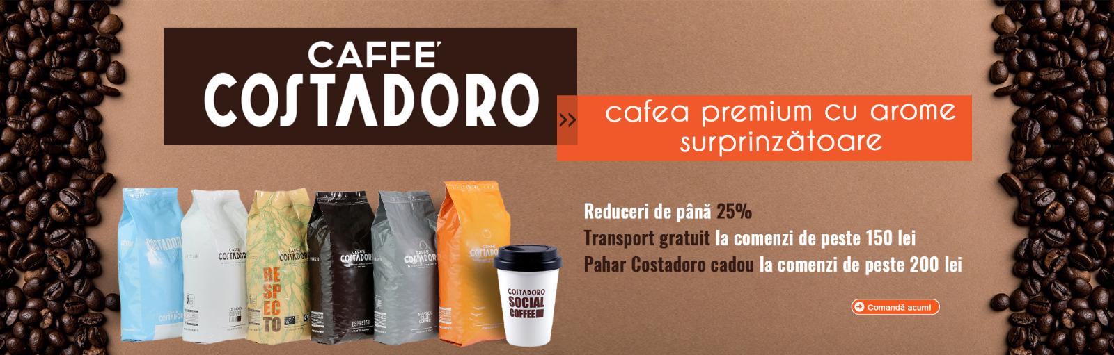 Promotii cafea Costadoro - pahar Costadoro cadou